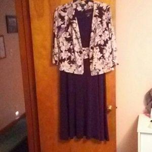 Jessica Howard Purple Dress with Cream Floral Jack